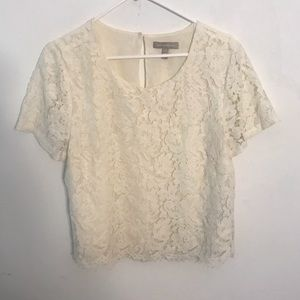 Banana republic lace crop top